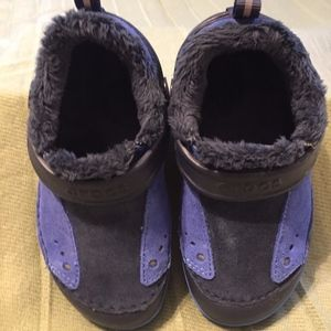CROCS Dawson Lined Slip-On Sneaker (toddler sz 9)
